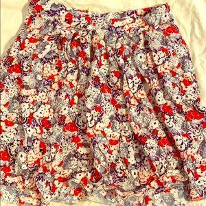 Flowery BCBG skirt